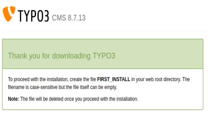 "Install Tool ""FIRST INSTALL"""